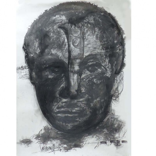 Les portraits d'Elon-m Tossou, un travail au fusain entre réalisme et mémoire du passé