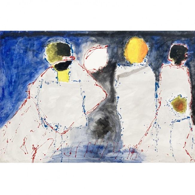 PASSION MUETTE, plongée dans l'univers bleu d'Eric Mededa, artiste contemporain africain