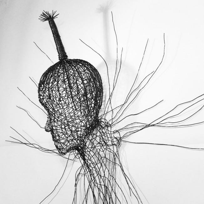 Des têtes aériennes de l'artiste contemporain remy samuz