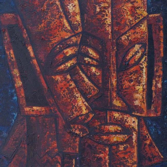peinture de masques stylisées